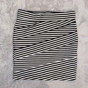stripped pattern skirt